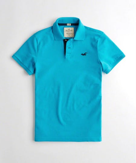 Stretch Pique Polo from Hollister Co.