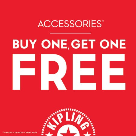 Buy One, Get One Free - Accessories from Kipling