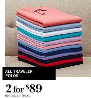 All Traveler Polos 2 for $89 from Jos. A. Bank