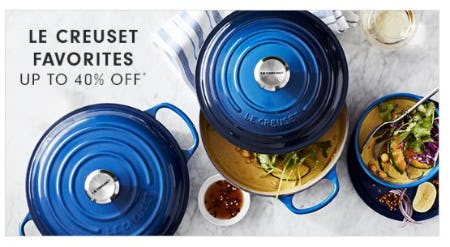Le Creuset Favorites up to 40% Off