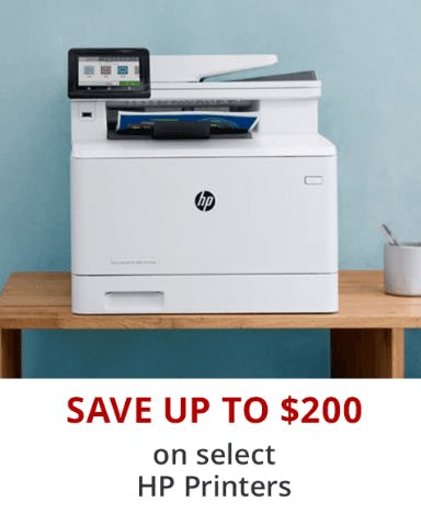 Save Up to $200 on Select HP Printers from Office Depot