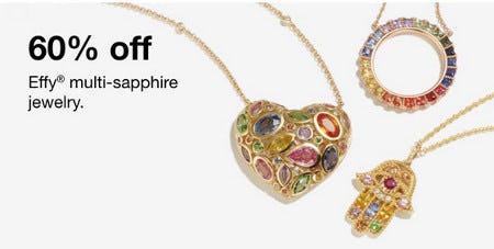 60% Off Effy Multi-Sapphire Jewelry from macy's