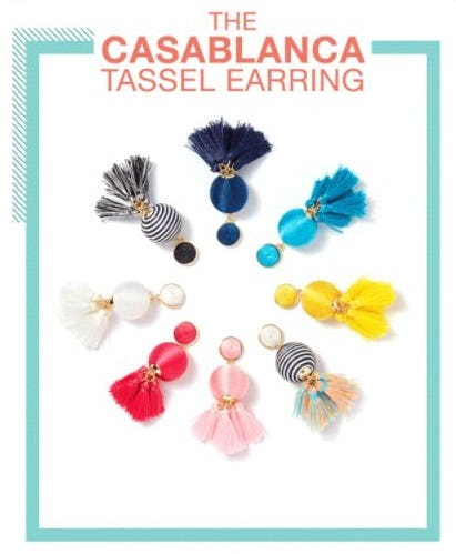 The Casablanca Tassel Earring from Charming Charlie