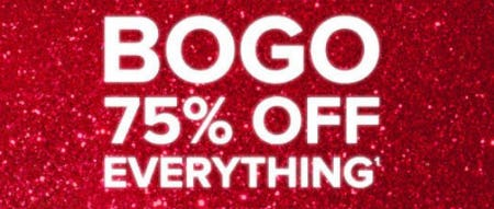 BOGO 75% Off Everything