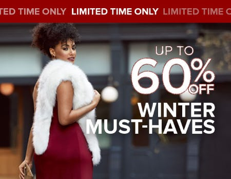 Up to 60% Off Winter Must-Haves