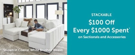 $100 Off Every $1000 Spent from Lovesac Designed For Life Furniture Co