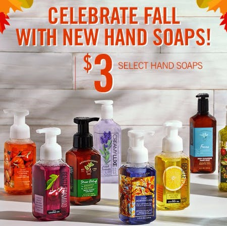$3 Select Hand Soaps