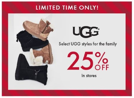 25% Off Select UGG Styles for the Family from DSW Shoes