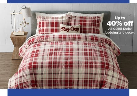 Up to 40% Off All Cuddl Duds Bedding and Decor from Kohl's