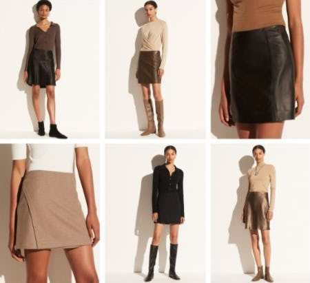 The New Skirt Silhouette from Vince