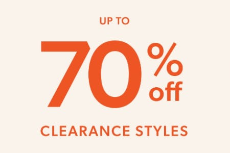 Up to 70% Off Clearance Styles from Evereve