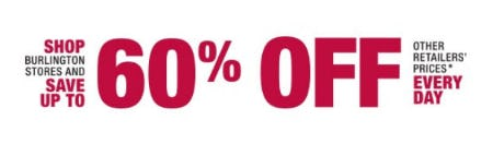 Up to 60% Off Other Retailers' Prices