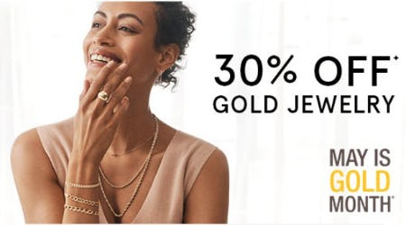 30% Off Gold Jewelry