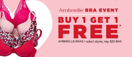Ambrielle Bra Event Buy 1, Get 1 Free from JCPenney
