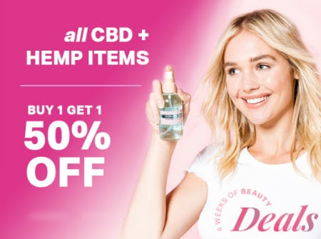 B1G1 50% Off All CBD + Hemp Items from Tillys