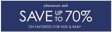 Clearance Sale up to 70% Off from Pottery Barn Kids
