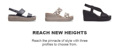 Reach New Heights from Crocs