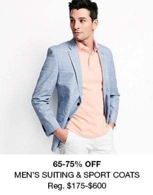 65-75% Off Men's Suiting & Sport Coats