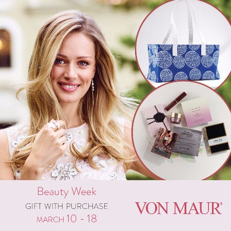 Beauty Week Tote Bag Gift With Purchase from Von Maur