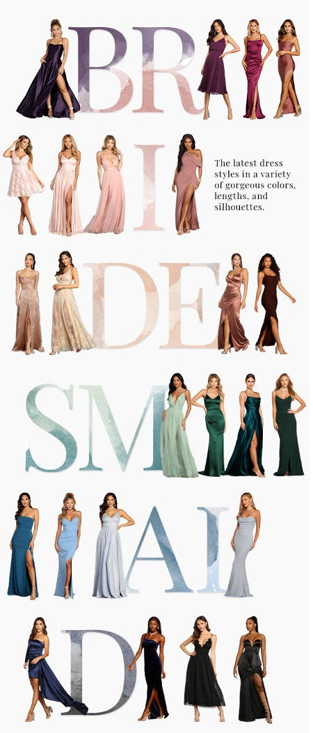 Bridesmaid Dresses in Latest Styles and Colors from Windsor