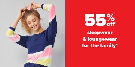 55% Off Sleepwear & Loungewear for the Family from Belk