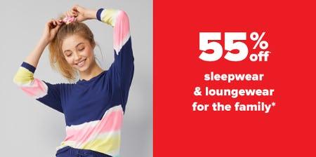 55% Off Sleepwear & Loungewear for the Family