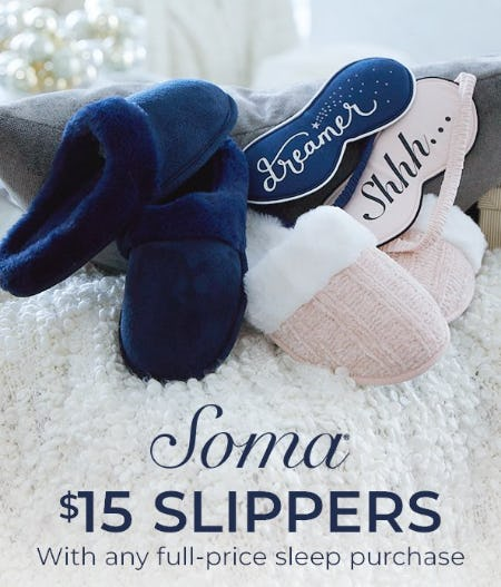 $15 Slippers from Soma By Chico's