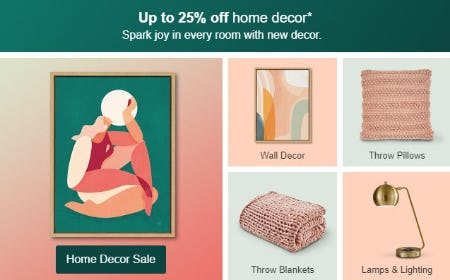 Up to 25% Off Home Decor