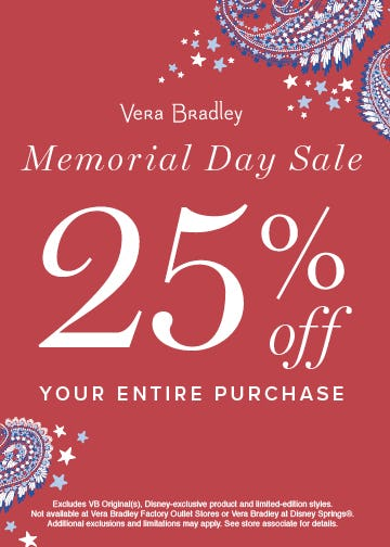 Memorial Day Sale from Vera Bradley