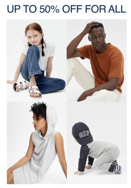Up to 50% Off for Fall from Gap