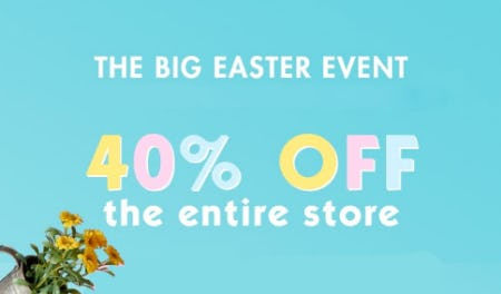 40% Off The Big Easter Event from Justice