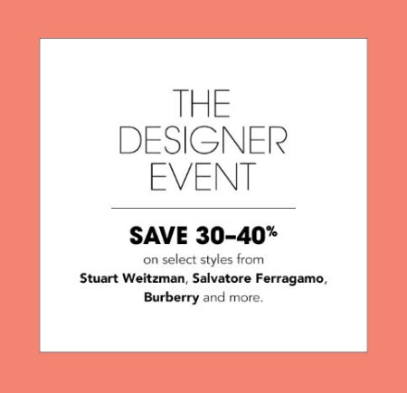 30-40% Off The Designer Event from Bloomingdale's
