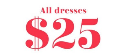 All Dresses $25 from Aerie