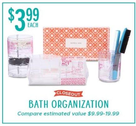 $3.99 Each Bath Organization