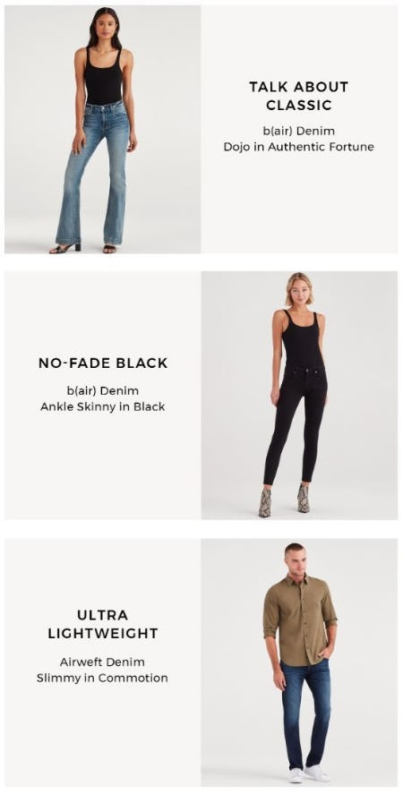 Our Tried & True Denim Staples from 7 for All Mankind