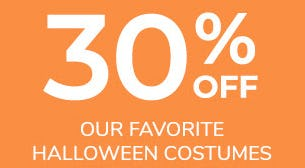 30% Off Our Favorite Halloween Costumes