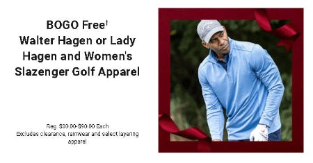 BOGO Free Walter Hagen or Lady Hagen and Women's Slazenger Golf Apparel from Dick's Sporting Goods