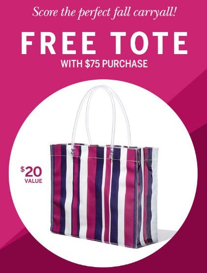 Free Tote With $75 Purchase from Dress Barn, Misses And Woman