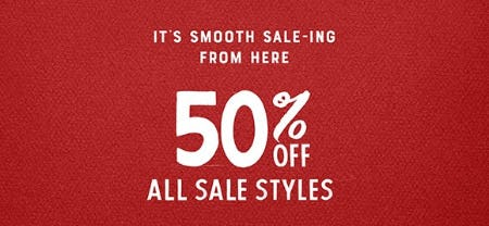 50% Off All Sale Styles from Lucky Brand Jeans