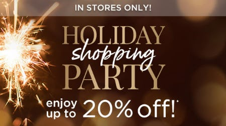 Holiday Shopping Party from Blue Mercury