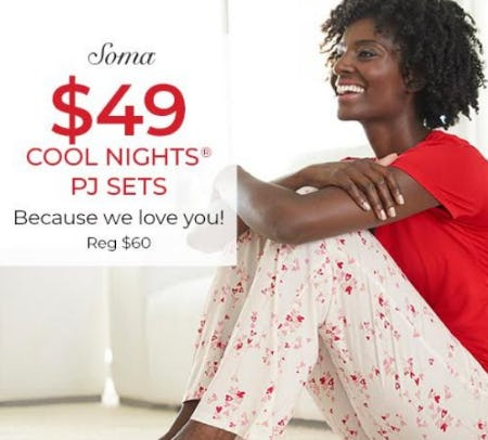 $49 PJ Sets from Soma By Chico's