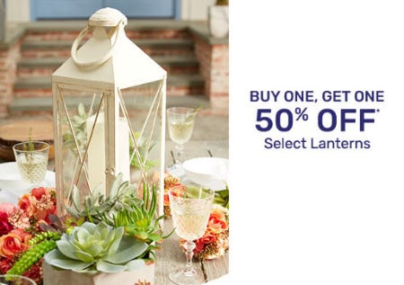 BOGO 50% Off Select Lanterns from Pier 1 Imports