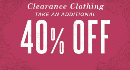 Take an Additional 40% Off Clearance Clothing from Earthbound Trading Company