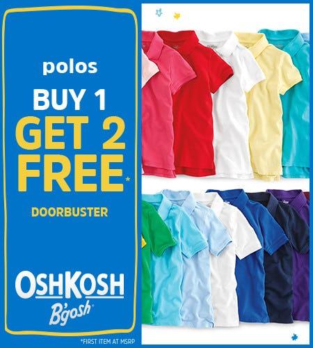 Polos Buy 1 Get 2 Free Doorbuster* from Oshkosh B'gosh