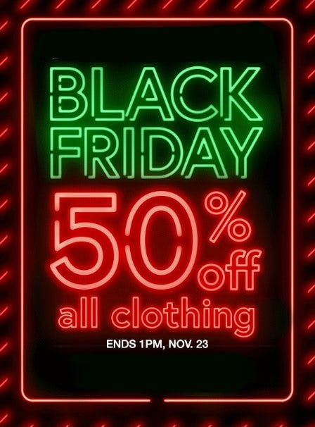 50% Off All Clothing from Charming Charlie
