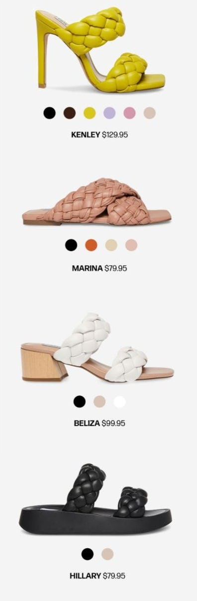 The Latest Trend Report: Braided Sandals from Steve Madden