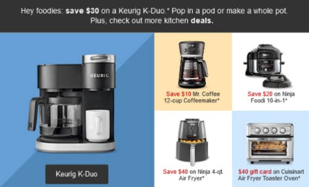 Save $30 on a Keurig K-Duo