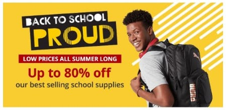 Up to 80% Off our Best Selling School Supplies from Office Depot