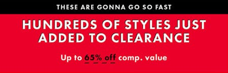 Clearance: Up to 65% Off Comp. Value from DSW Shoes