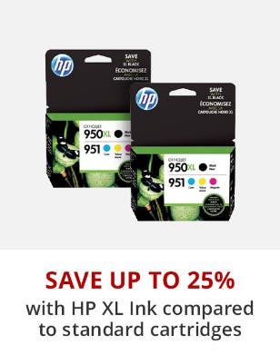 Save Up to 25% with HP XL Ink Compared to Standard Cartridges